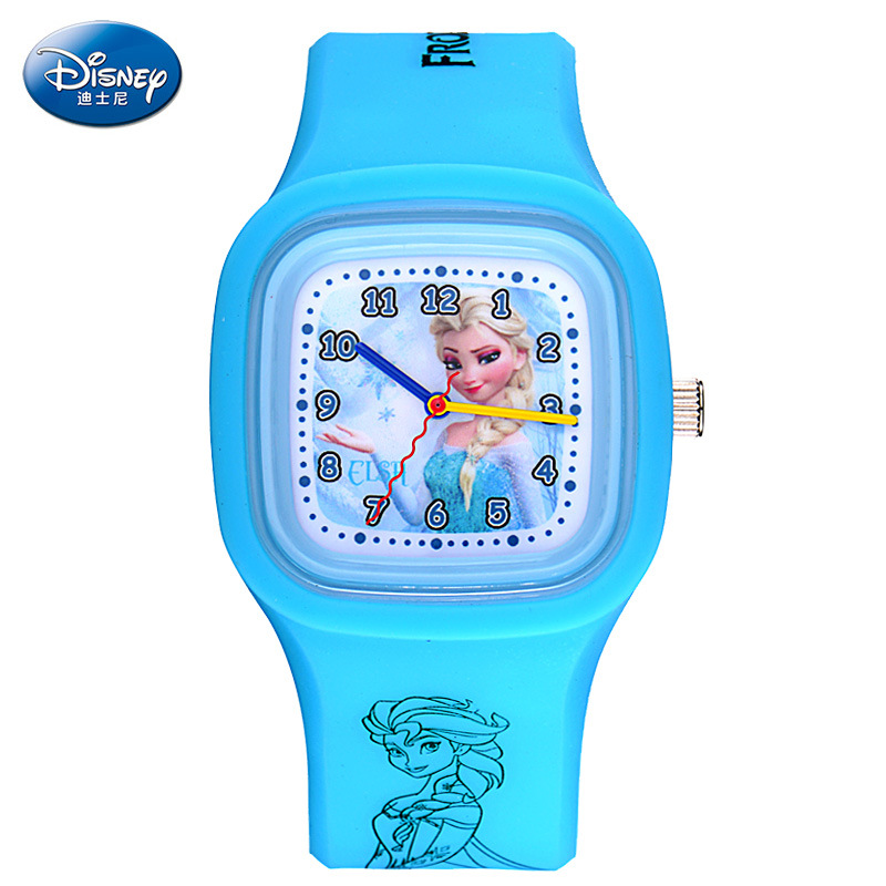 2015 новинка Disney часы дети% 27 часы девочка лед снег и снег особый край желе часы студент девочка% 27 часы