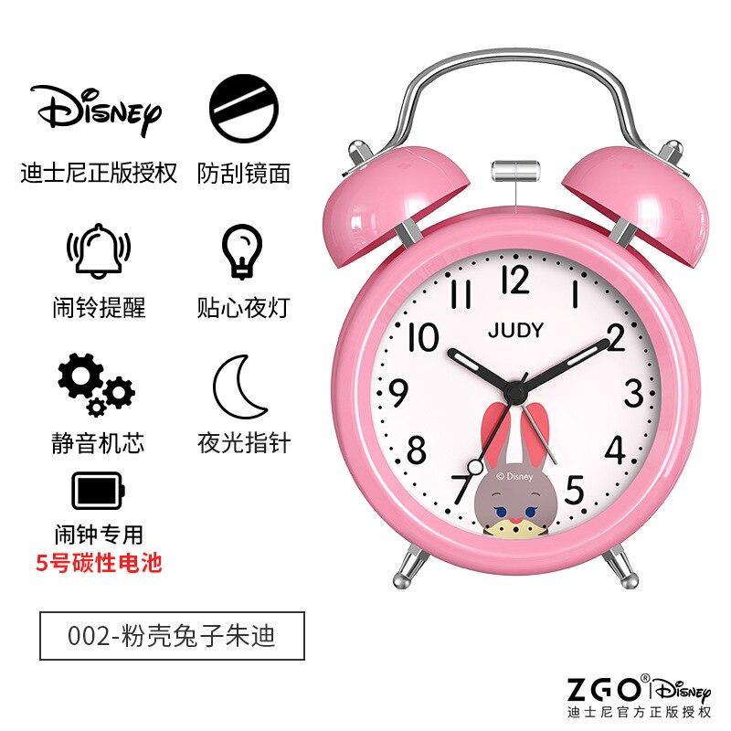 Disney оригинал дети% 27 будильник часы украшения девушки ученики креатив простой немой индивидуальный особенный световой будильник часы