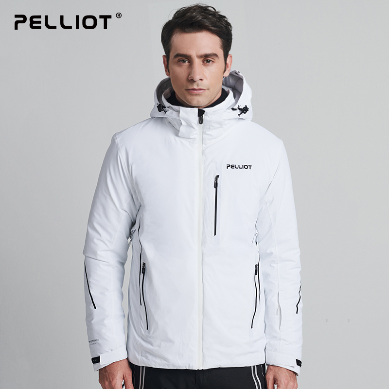 PELLIOT,Outdoor Ski Suit Men's Winter Double Board Travel Sports Jacket Professional Thick Warm Breathable Cotton Clothing