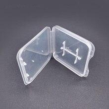 Funda para tarjeta de memoria protectora TD SD, caja de plástico transparente, soporte de almacenamiento, fundas para tarjetas de memoria