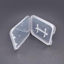 TD SD di Memoria Supporto di Carta Della Cassa Protezione Trasparente Stoccaggio Scatola di Plastica Titolare Confezioni e Custodie per Memory Card
