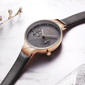 Image 4 - נשים שעוני יוקרה מותג NAVIFORCE קוורץ גבירותיי שעון שמלת שעון יד תאריך שעון עם תיבת סט למכירה Relogio Feminino