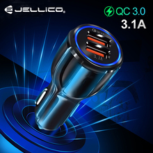Jellico Car Charger Quick Charge 3.0 Mobile Phone Charger Dual USB QC3.0 Fast Car Charger for iPhone Samsung Tablet Car-Charger car usb charger quick charge 3 0 2 0 mobile phone charger dual usb fast charging adapter for samsung iphone tablet car charger