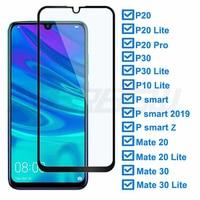 Protector de pantalla de cristal templado 9D para móvil, película protectora para Huawei P30 Lite P20 Pro P Smart Z Mate 20 30 Lite, 2019