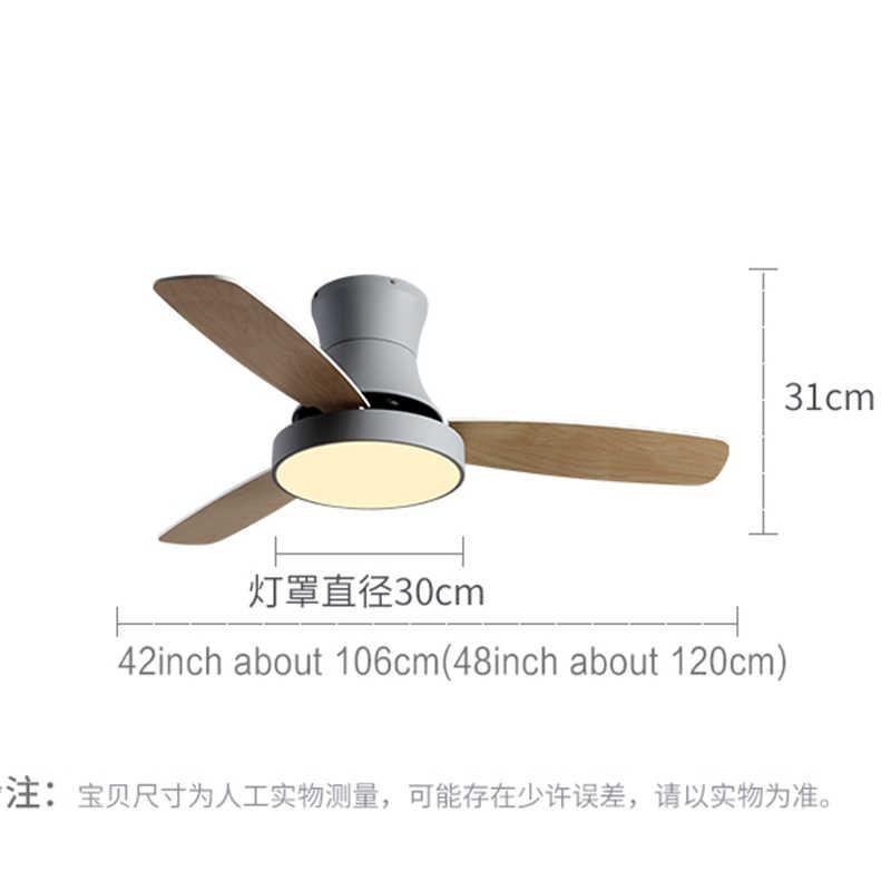 Btx Lage Vloer Met Elektrische Ventilator Nordic Celling Ventilator Lamp Eetkamer Woonkamer Houten Eenvoudige Zuigkracht Plafond Off Fan lamp