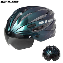 GUB Bicycle Helmet With Visor Glasses Integrally-molded Comfortable MTB Bike Helmet Motorcycle Cycling Safety Cap Men Women New