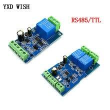 Modbus-Module de relais 5V 1/2 canaux, entrée/sortie RS485/TTL, Module de relais 1 2 voies, interface de Communication, panneau d'indicateur