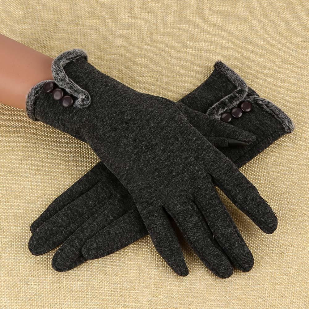 Sleeper #P501 2019 NEW Women Cashmere Keep Warm Driving Full Finger Gloves Touch Screen Glove перчатки guantes luva Winter hot