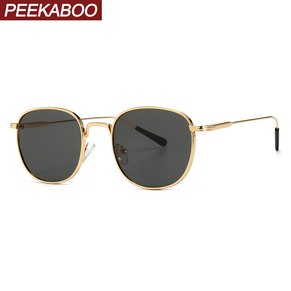 Peekaboo Black Square Sunglasses Women Retro Green Gold 2020 Summer Male Sun Glasses Metal Frame Uv400 Summer Style Drop Ship