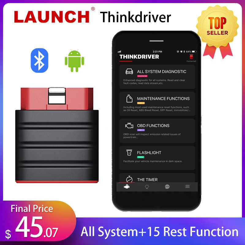 STARTEN Thinkdriver Bluetooth OBD2 Scanner Automotive OBD 2 IOS Auto Diagnose Code Reader OBD Android Scanner PK Thinkdiag AP200