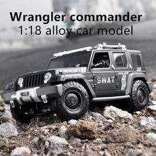 Maisto 1:18  Jeep police car  car alloy car model simulation car decoration collection gift toy Die casting model boy toy maisto 1 18 1939 ford classic car car alloy car model simulation car decoration collection gift toy die casting model boy toy
