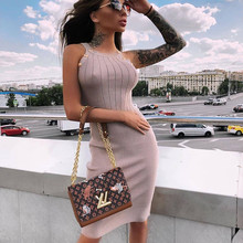 2020 Summer Women Bandage Dress Lady Sexy Bodycon Sleeveless Evening Party Club