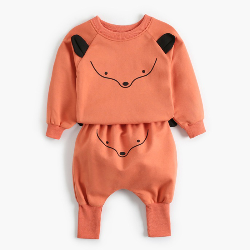 2021 New Newborn Baby Girls Clothes Autumn Baby Boys Clothes Set Kids Costume Infant Baby Clothing Suit Cotton Coat+Pants 5