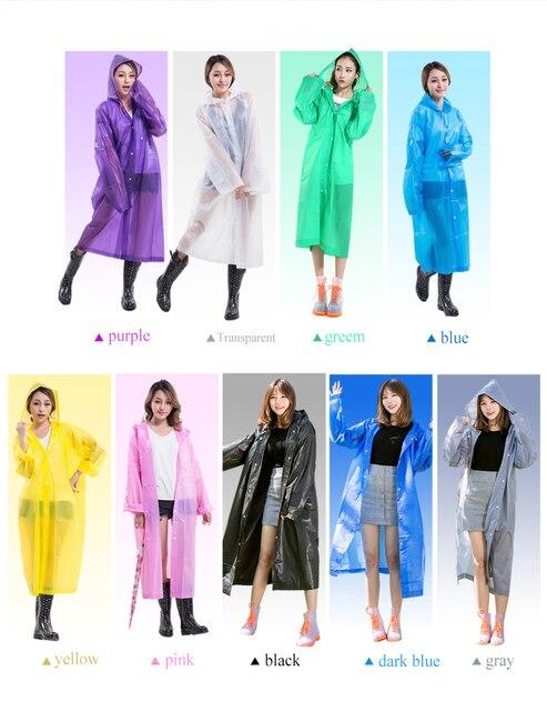 Raincoat Women Men Impermeable Thickened Waterproof Raincoat Tourism Outdoor Hiking Rain Poncho Raincoat Hooded Rain Coat 5