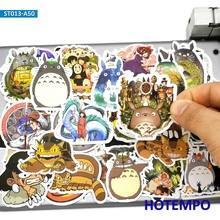 50 Uds. De pegatinas de película de Anime para niños, pegatinas con dibujos animados de Miyazaki Hayao, para teléfono móvil, portátil, equipaje, monopatín