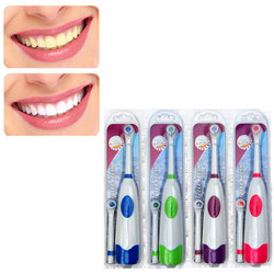 Electric Toothbrush With 2 Brush Heads Battery Operated Oral Waterproof Rotatable Teeth Brush For Children Adult With No Battery