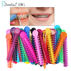 40pcs Dental Orthodontics Ligature Ties Ortho Rubber Bands 1040 Rings Oral Disposable Materials Dentist Tools for Teeth