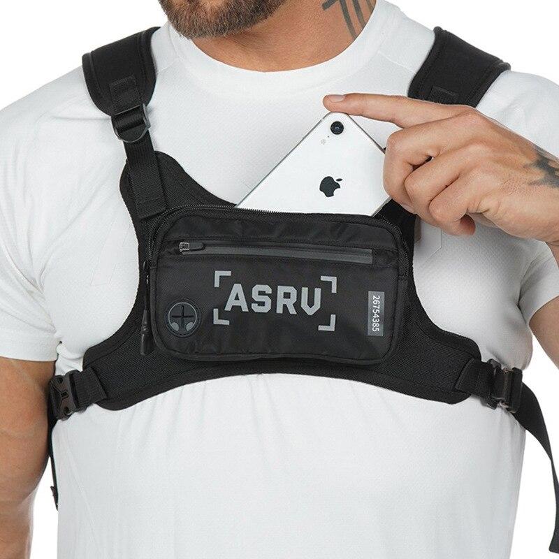 Mini Sport Chest Rig Bag Fashion Male Waist Packs Street Style Tactical Vest Functional Money Phone Shoulder Bag Men Chest Pack