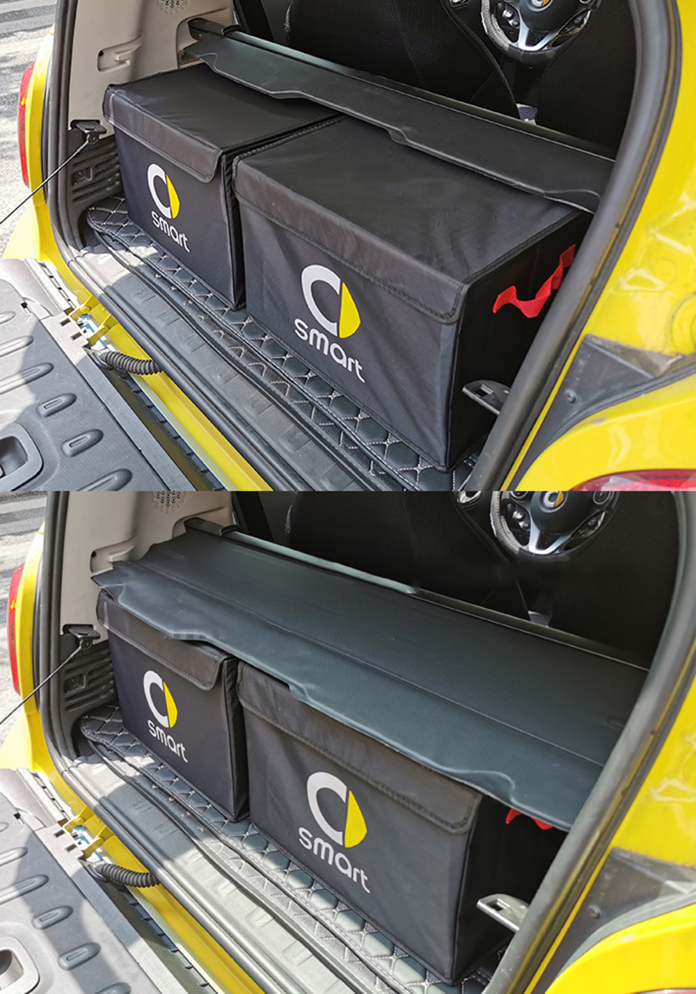 Car Trunk Storage Box Folding Basket Interior Stowing Tidying Organizer For Smart 451 453 fortwo forfour Universal Accesories