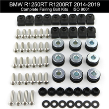 For BMW R1250RT R1200RT 2014 2015 2016 2017 2018 2019 Complete Full Fairing Bolts Kit Side Covering Clips Stainless Steel