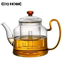 1200 مللي إبريق سعة كبيرة طقم شاي على البخار إبريق الشاي المغلي Puer غلاية طقم شاي عالي الجودة مقاوم للحرارة زجاج إبريق القهوة