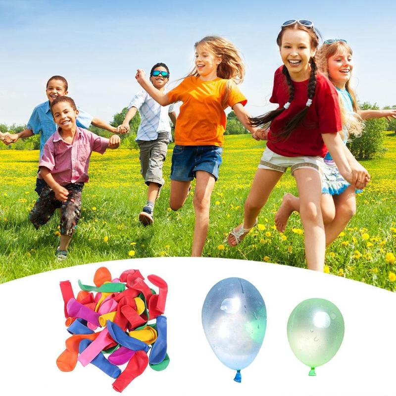 100pcs/lot Water Inflation Injection Balloons Summer Throwing Game Toy Children Outdoor Beach Play Water Balloon Toy Kid Fun Toy