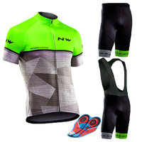 Men's 2019 NW Team Cycling Jersey Summer Short Sleeve Set Cycling Clothing Ropa Ciclismo Fast Drying 9d Bike Bib Pants