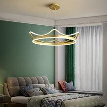 Современная светодиодная Подвесная лампа в виде короны Алюминиевая