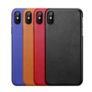 Image 5 - Genuine Leather Case For iPhone X XR XS Max 11 Pro MAX 11Pro Cover Funda Capa Matte Real Leather Case For iPhone XR XS Max Case