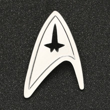 Star Trek Broche Pin TMP De Motion Picture Admiral Commando Badge Zilveren Kleur Mode Nieuwe Hot Movie Sieraden Mannen Vrouwen groothandel(China)