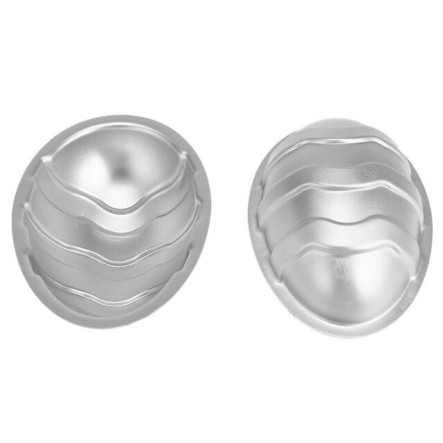 2Pcs/set Aluminium Alloy 3D Bath Bomb Molds DIY Tool Salt Ball Homemade Crafting Mould Semicircle Sphere Shell Bath Accessories 5