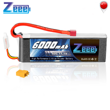 Zeee Lipo Battery 11.1V 6000mAh 3S Rechargeable Drone FPV 60C Deans Plug XT60 Connector 3s for RC Car Helicopter