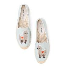 2020 ريال Zapatillas Mujer منصة مسطحة الصيادين 2019 ساباتوس سيدة عادية المطاط تسولي خارج أيام العمل الكتان القش سميكة سوليد