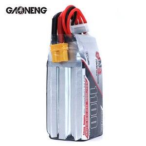 Image 3 - 2 шт. Gaoneng 11,4 в 1100 мАч 50C 3S HV 50C/100C 4,35 в литий полимерная батарея XT30 T XT60 разъем для радиоуправляемого FPV гоночного дрона
