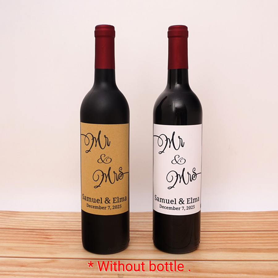 I Said Yes Personalised Wine Bottle Labels Pack of 6
