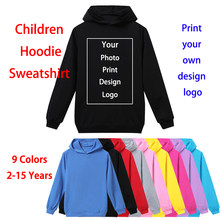 DIY Customized Your Own Design Logo Picture Custom Print Boys Clothes Baby Hoodies Children Clothing Kids Sweatshirts Girls Tops