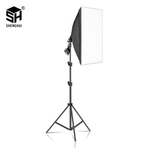Photography Softbox Lighting Kits 50x70CM Professional Continuous Light System Soft box For Photo Studio Equipment(China)