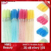 Varitas de cristal descartables para pestañas cepillo máscara, aplicador, rizador de pestañas, herramienta de maquillaje de belleza, 25/50 Uds.