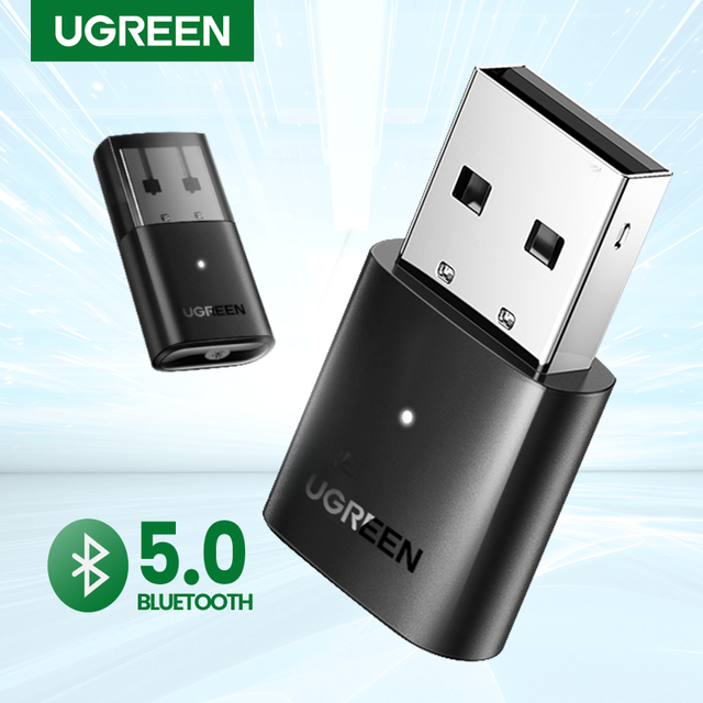 UGREEN USB Bluetooth 5.0 Dongle Adapter 4.0 for PC Speaker Wireless Mouse Music Audio Receiver Transmitter aptx Bluetooth 5.0 1