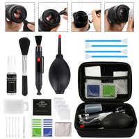 Professionnel DSLR lentille caméra Kit de nettoyage équipement vaporisateur bouteille lentille stylo brosse souffleur pratique appareil photo numérique propre outils