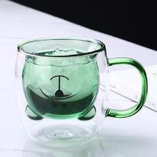 Creative Cute Bear Coffee Mugs Double Glass Cup Animal Double-layer Milk Juice Tea Mug Cup Lady Valentine's Day Christmas Gift