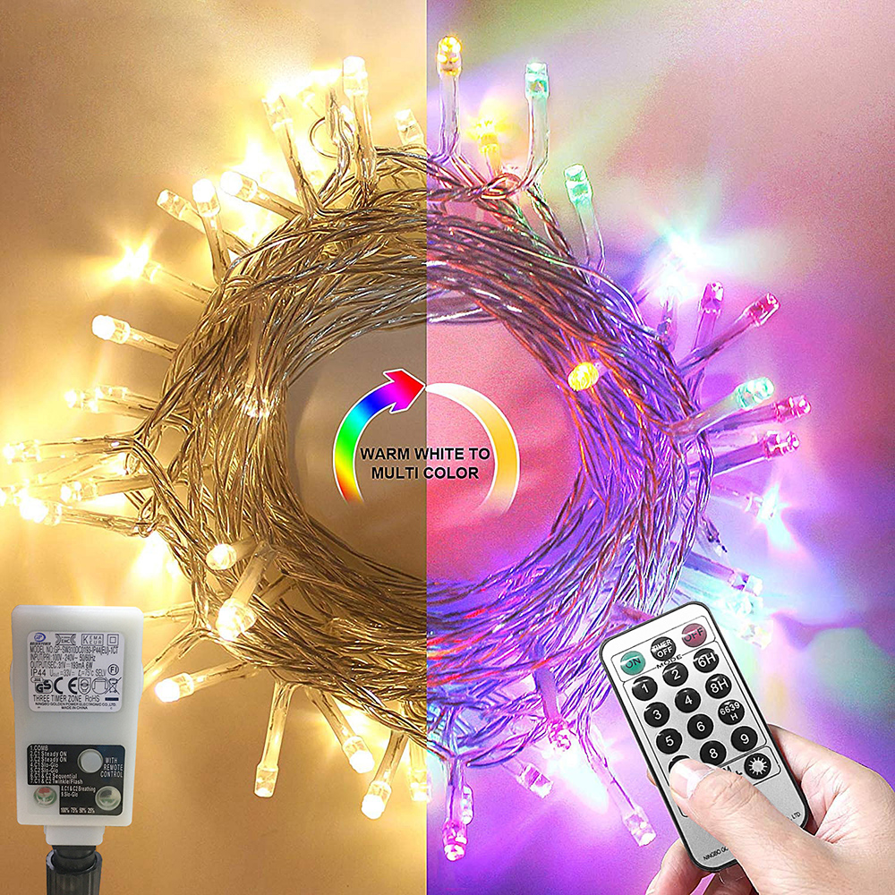 Christmas Lights LED String Lights Memory Function Timer LED String Lights Holiday Xmas Outdoor Smart Fairy String Lights D20