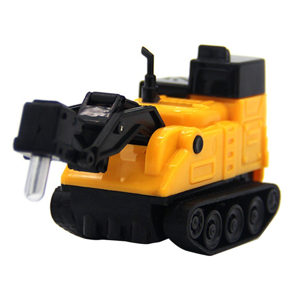 Original Toy Truck Children's Electric Toy Engineering Vehicle Scribing Induction Car Chisel Drilling Rig Excavator