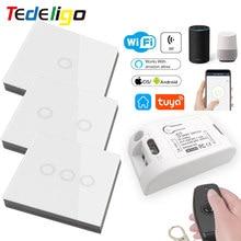 Tuya Smart App Wifi Light Controller Touch Wall Switch RF Wireless 433Mhz RemoteControl AC110V220V GoogleHome Alexa Timer Module