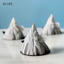 JO LIFE Silicone Mousse Moulds 3D Iceburg Shaped Creative Cake Decoration Tool Pastry Dessert Mold