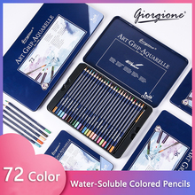 Colored Pencil Professional Set 12/24/36/48/72 Color Soft Wax-Based Refill Suitable for Art Sketching Coloring Drawing Pencils