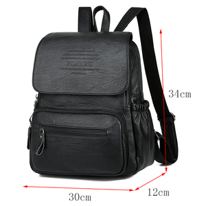 Image 4 - 2020 Women High Quality Leather Backpacks Female Shoulder Bag Sac A Dos Ladies Travel Bagpack Mochilas School Bags for Girls