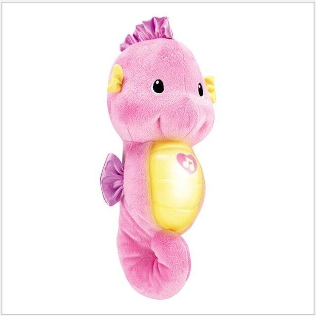 Juguetes de bebé lindos juguetes de peluche suave muñeca soothe glow seahorse juguetes para niños lámpara de sueño bebé appease Nightlight juguetes educativos