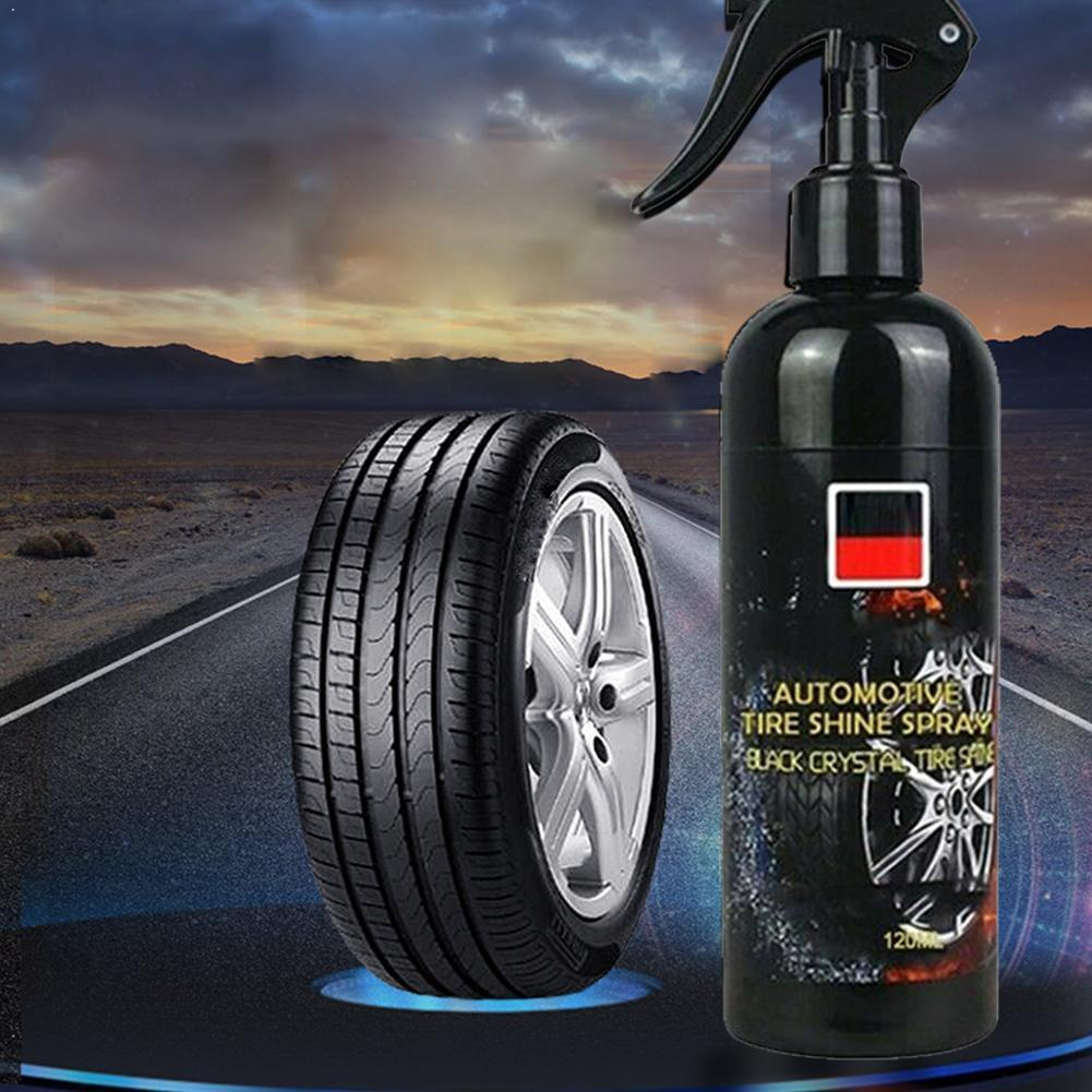 100ml Car Tire Cleaner Auto Tires Coating Protectant Cleaning Car Car Shine Spray Tool Tire Agent Agent Polishing Maintenan H1J7