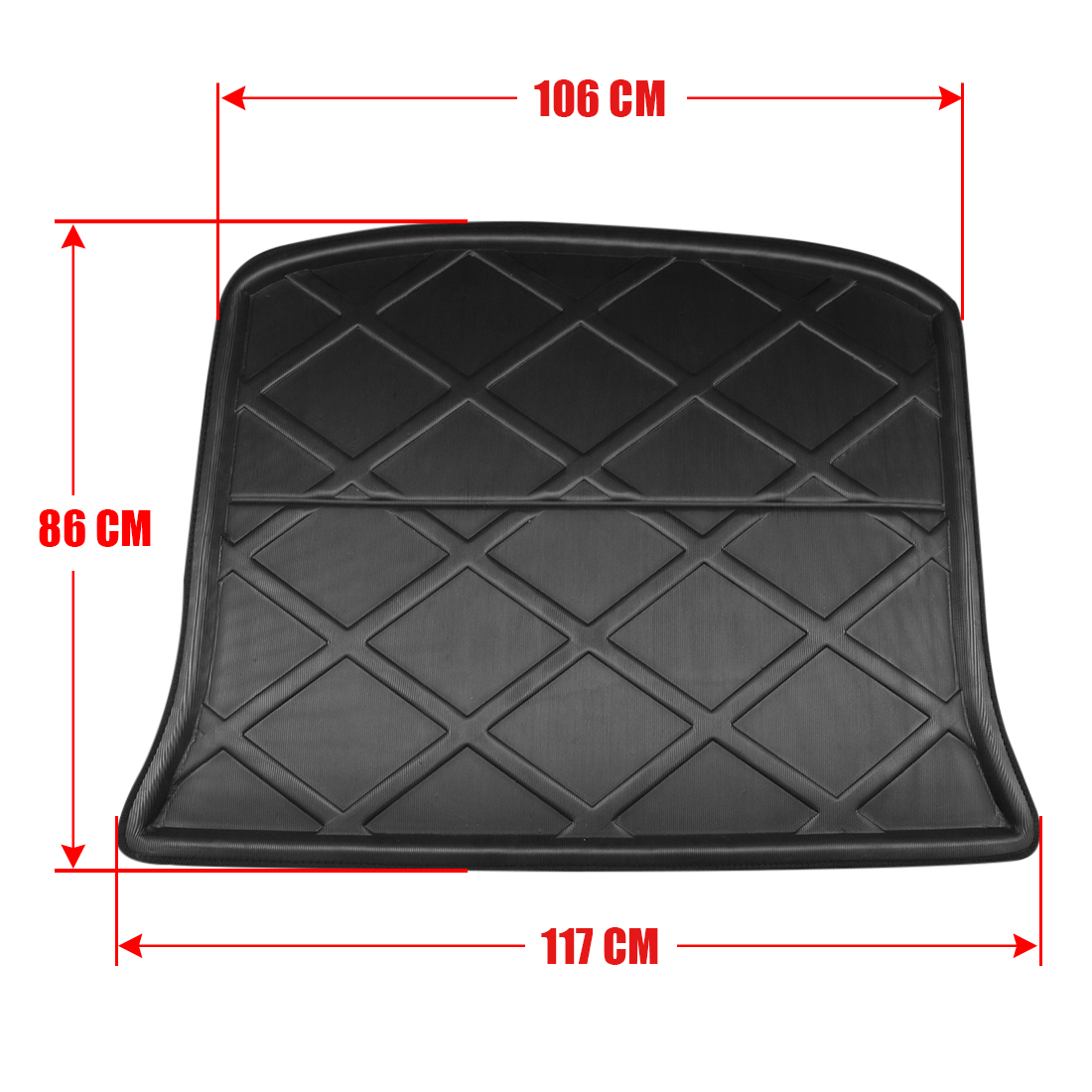 Image 4 - UXCELL Random Send PE+EVA Foam Black Rear Trunk Tray Boot Liner Cargo Car Floor Mat for Ford Edge 2007 TO 2018    -